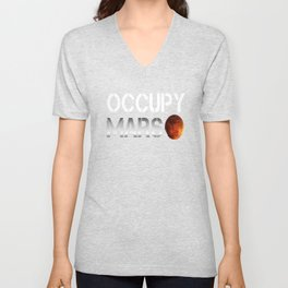 Occupy Mars SpaceX Elon Musk Unisex V-Neck