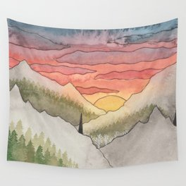Rusty Light on the Pines Wall Tapestry