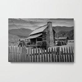 Appalachian Mountain Cabin Metal Print