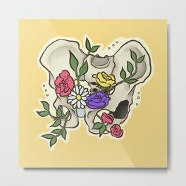 Flowery Pelvis Metal Print