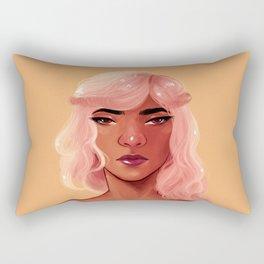 Pink Hair Rectangular Pillow
