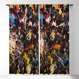 French Abstract Expressionism Painting Blackout Curtain
