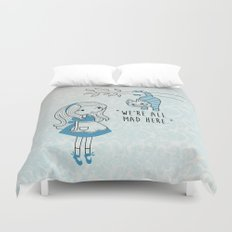 Alice and Cat Duvet Cover
