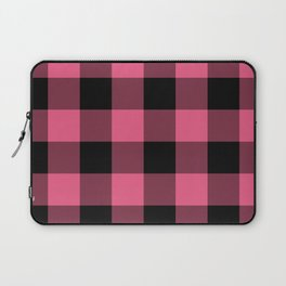 Pink & Black Buffalo Plaid Laptop Sleeve