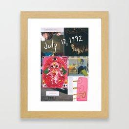Happy Birthday to Me (July 12, 1992) Framed Art Print