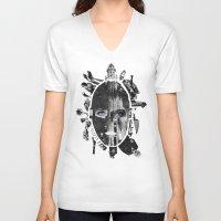 metropolis V-neck T-shirts featuring Metropolis by DLS Design