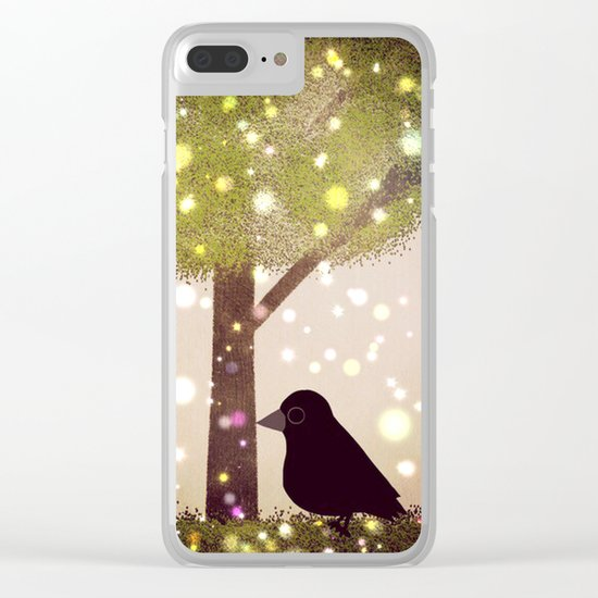 crow-50 Clear iPhone Case