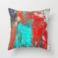 picasso Throw Pillows featuring Picasso by Fernando Vieira
