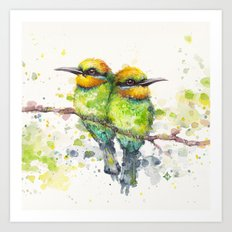 Family (Rainbow Bee Eaters) Art Print