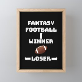 Fantasy Football Team Player College Coach Gift Framed Mini Art Print
