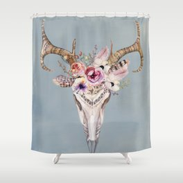 Deer Skull 2 Shower Curtain