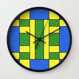 They were all yellow... blue and green Wall Clock