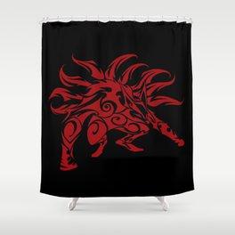 Kurama Tribal Red Shower Curtain