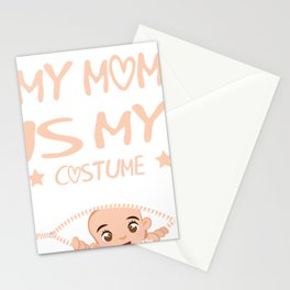 My Mom is My Costume Halloween Shirt Stationery Cards