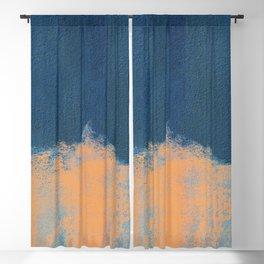Summer Beach Abstract Orange Blue #painting #decor #society6 Blackout Curtain