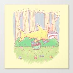 The Easter Bunny Shark Canvas Print