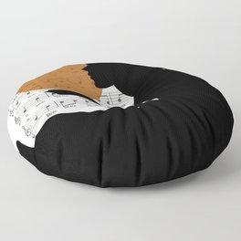 Music in the sun Floor Pillow