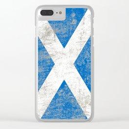 Scottish Saltire Clear iPhone Case