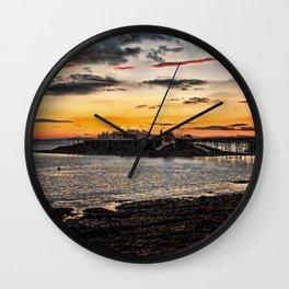 Birnbeck Pier and island Weston-super-Mare Wall Clock