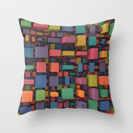 Random Cubes Throw Pillow