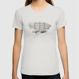Airship sketch in Steampunk style T-shirt