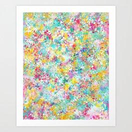 Spring Confetti Brushstrokes Art Print