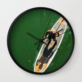 Paddle Surf Wall Clock