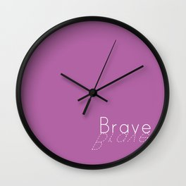 Brave bold Wall Clock