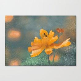 Orange Flower Garden Canvas Print