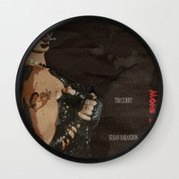 rocky horror picture show Wall Clocks featuring Rocky Horror Picture Show by JAGraphic