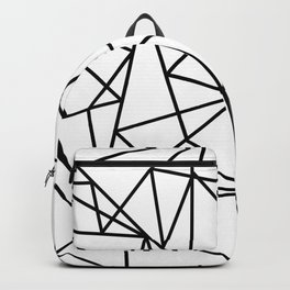Black white modern abstract geometrical pattern Backpack
