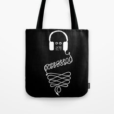 Possessed by the Beat (black) Tote Bag