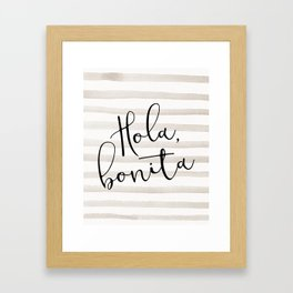 Hola Bonita Framed Art Print