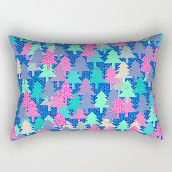 Colorful fir pattern II Rectangular Pillow