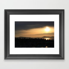 Shades of Dusk Framed Art Print