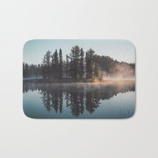 Foggy lake  #society6 Bath Mat