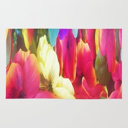307 - Abstract Flower design Rug
