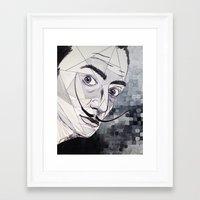 dali Framed Art Prints featuring Dali by Giovanna Diz Zurita Gallery