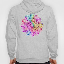 Rainbow Watercolor Paisley Floral Hoody