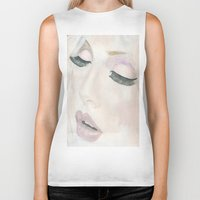 makeup Biker Tanks featuring Makeup by Kim Ly
