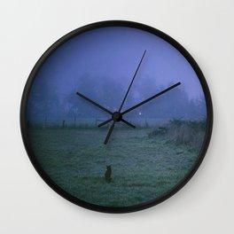 On a foggy night Wall Clock