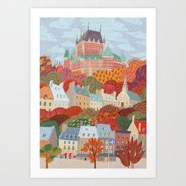 Québec City Art Print