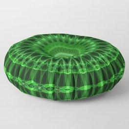 Rich green mandala Floor Pillow