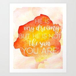 Grey's Anatomy /// He is very dreamy but he is not the sun /// Cristina Yang /// Greys Anatomy Art Print