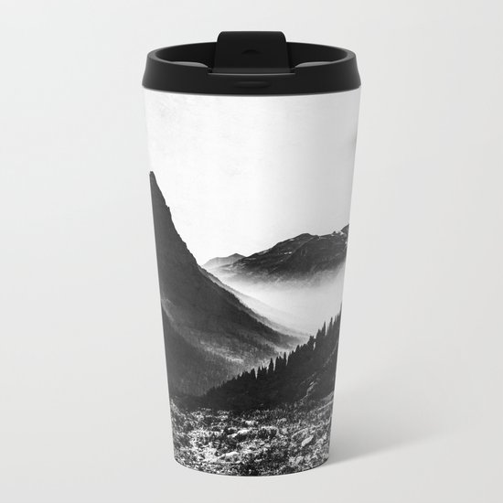Mountain Valley Glacier National Park Metal Travel Mug