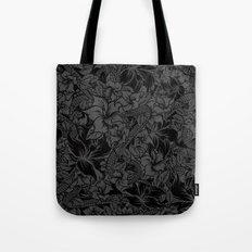 Snaky Fleur, Black and Grey Tote Bag