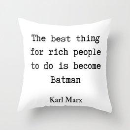 27    Karl Marx Quotes   190817 Throw Pillow