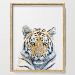 Tiger portrait Serving Tray