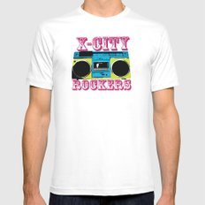 X-CITY ROCKERS MEDIUM White Mens Fitted Tee