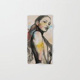 Cleansing Undertones | zentangle nude portrait Hand & Bath Towel